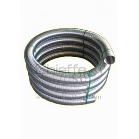 Tubo flessibile alluminio piazzetta al metro bieffe - Canalizzazione aria calda stufe a pellet ...
